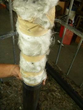 Stuffing a Glasspack Muffler fiberglass how to exhaust