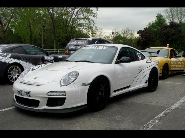 white, Porsche, RS, Gumball Rally, exotic car