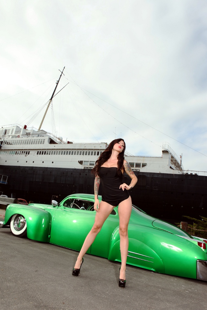 hot rod pinups, custom, kustom, ink and iron car show
