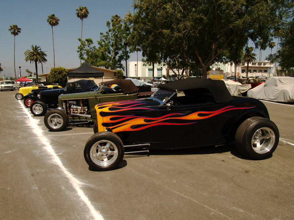 Custom Hot Rods Line-up of LA s finest