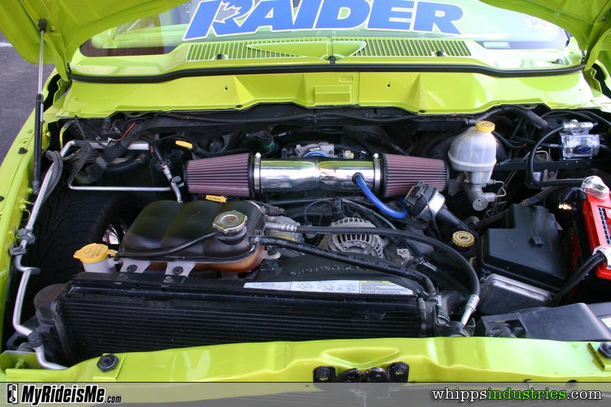 Dodge Ram, V8, Engine, Green