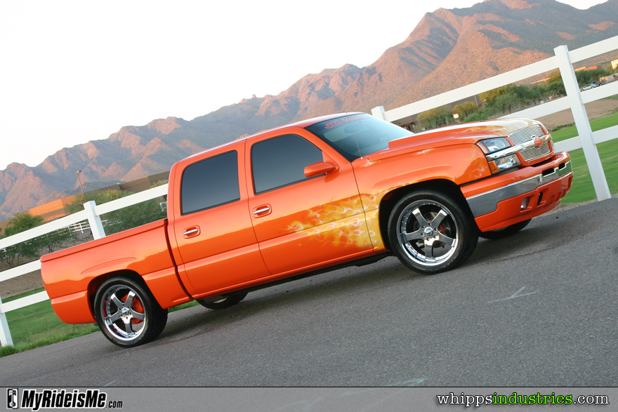 Crew cab, Chevy, Painted handles, Cowl hood