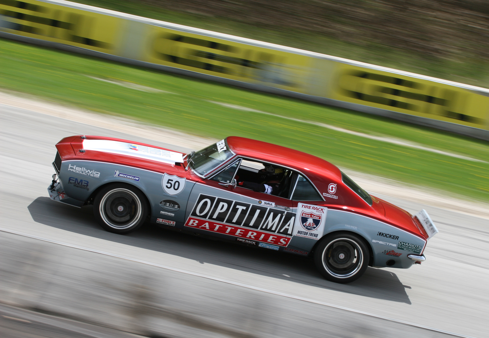 OneLapCamaro, One Lap of America, hot rod, road racing, american vintage class, Optima Battery,