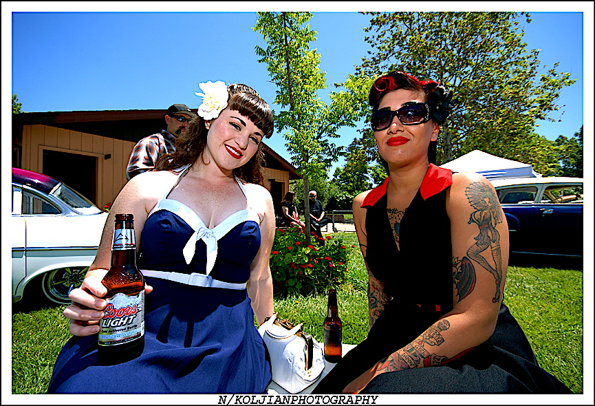 Pinups, hot rodders, Road Zombies BBQ and Car Show, hot rod tattoos