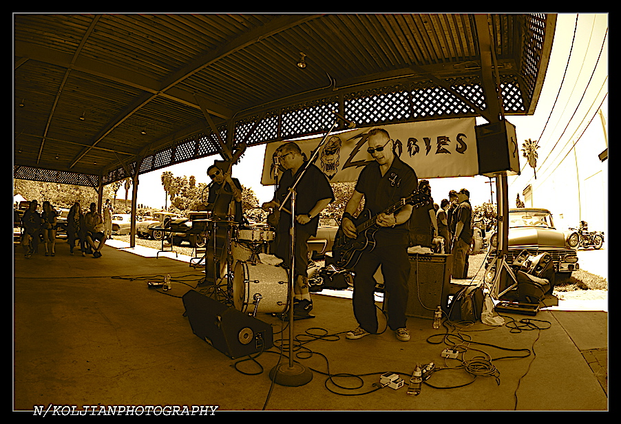 Rock n Roll Band, hot rods, Road Zombies BBQ and Car Show