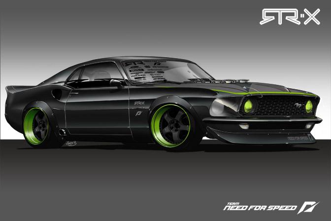 1969 Ford Mustang, Fastback, RTR-X, Vaughn Gittin Fr