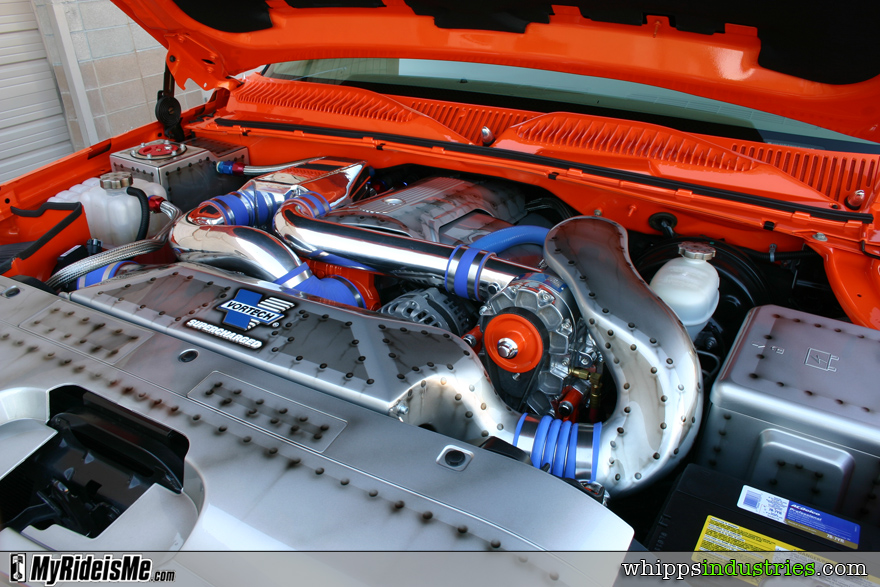 Vortech, Supercharger, airbrushed, orange