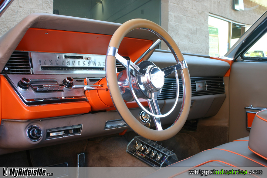 Billet steering wheel, Lincoln, Orange, Tangerine, Ultraleather