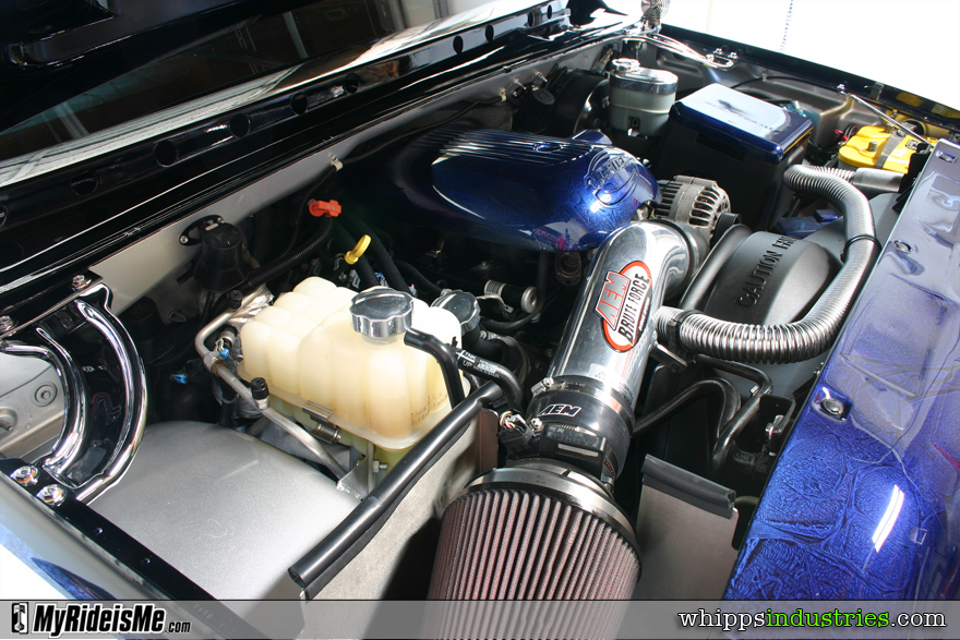 4.8l V8, AEM intake, Brute Force, Marbelized paint