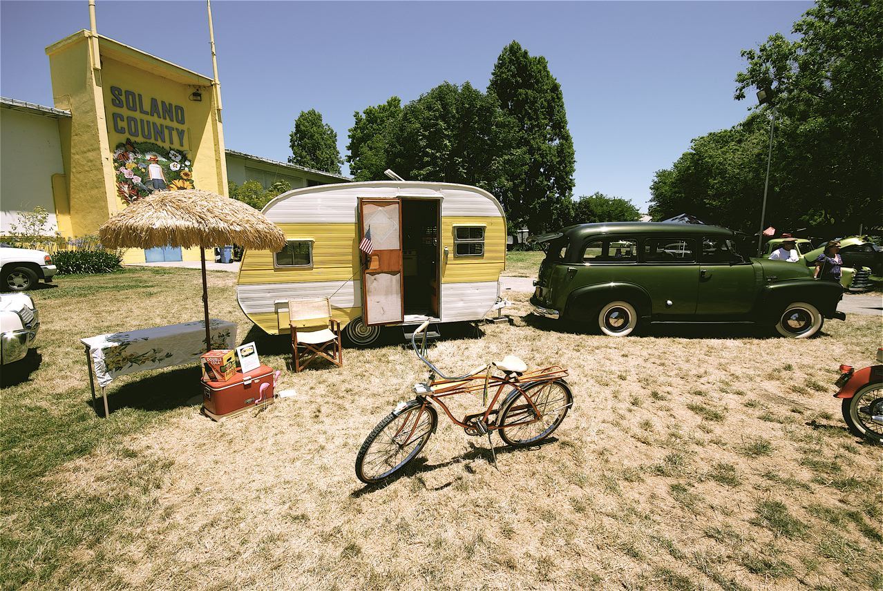 Vintage Trailer and tow vehicle