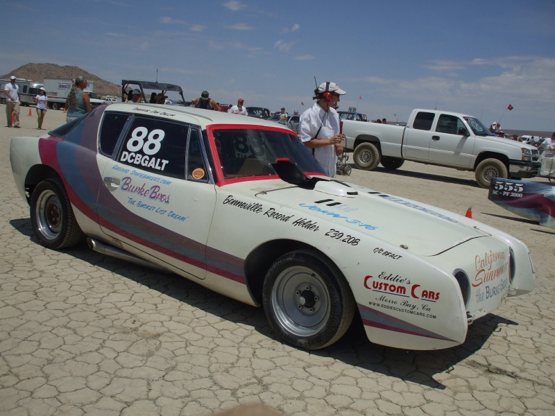 Studebaker Avanti, El Mirage, Land Speed Racing, Burke Bros, supercharged V8, R5
