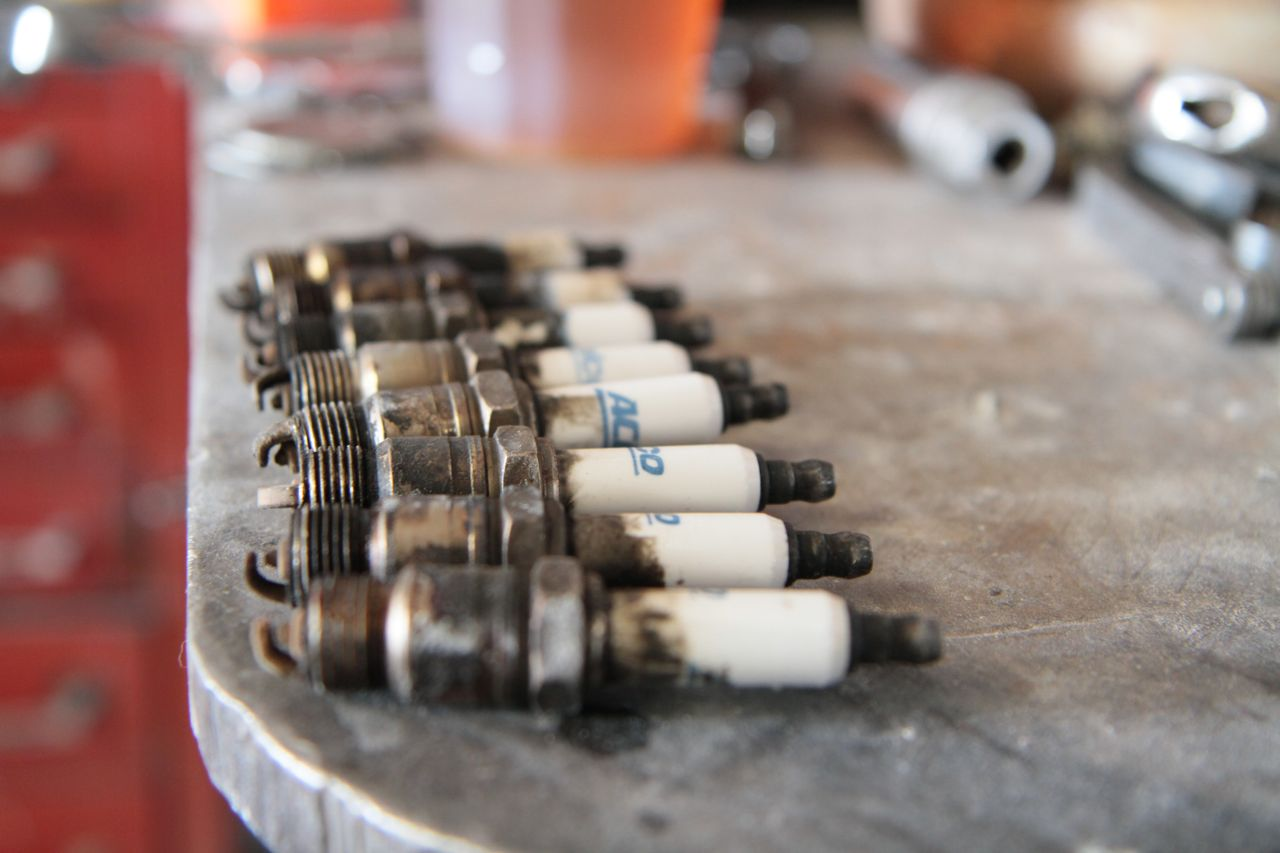 Dirty Old Spark Plugs