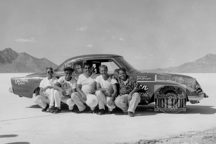 Record Breaking 1953 Studebaker Coupe at Speed Week 1958, land speed racing, bonneville