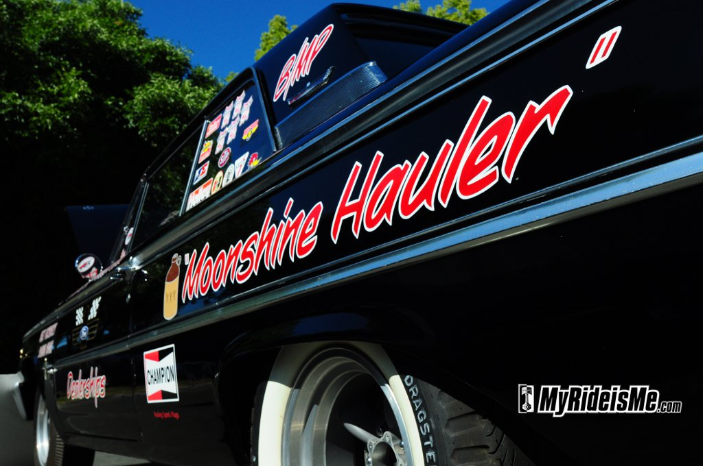 "One of those is this 1963 Galaxie race car called the ""Moonshine Hauler""."