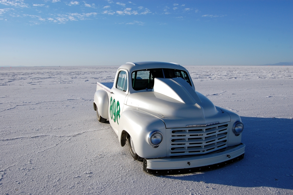 1949 Studebaker Record Holding Pickup, bonneville salt flats, speed week 2010, land speed racing, norris anderson, 898