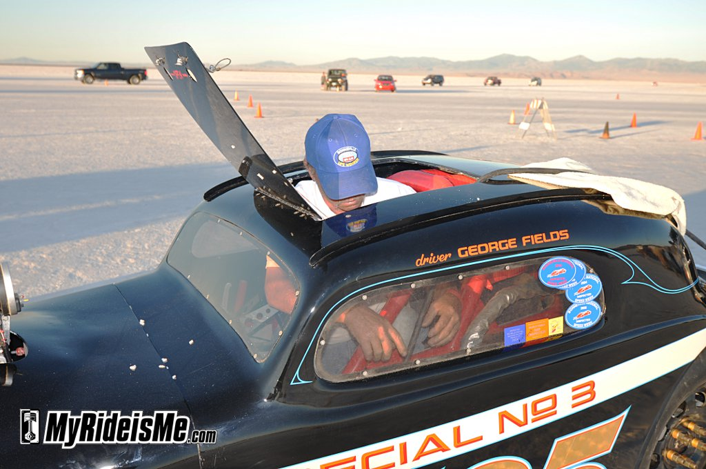 300 club member George Fields, Bonneville Salt Flats