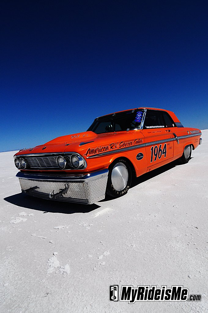 Bonneville Speed Week 2010, Bonneville Salt flats, 1964 Ford Fairlane, Bonneville hot rod