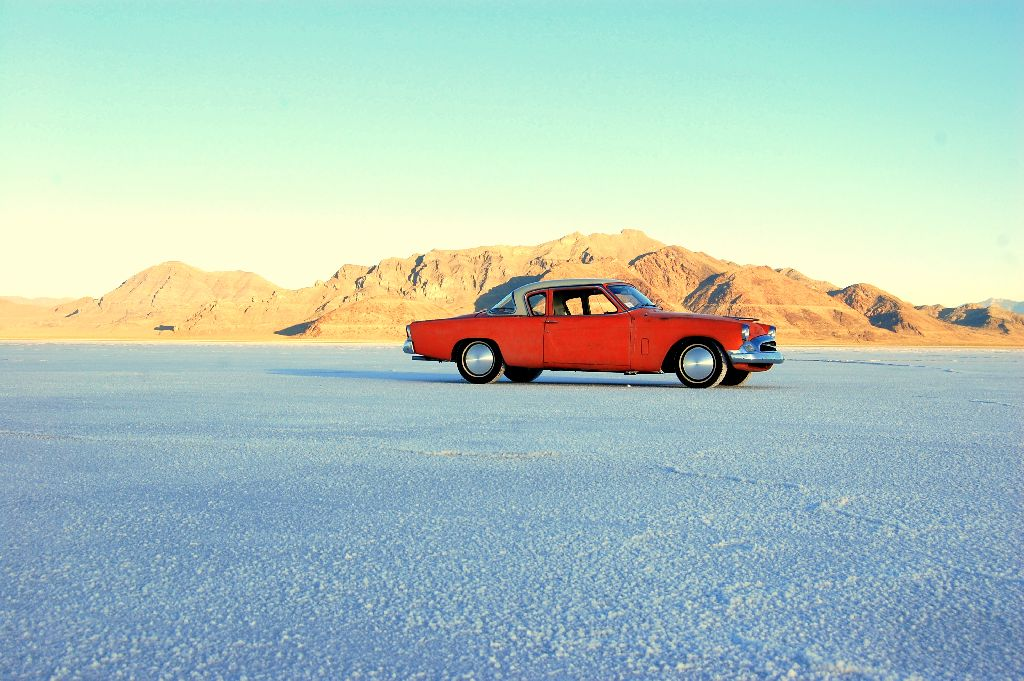 GreaseGirl's 1955 Studebaker on Bonneville Salt Flats