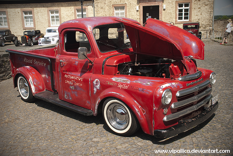 Hot Rod, Dodge pickup truck, German Street Rod Association, car show, shop truck, speed shop,