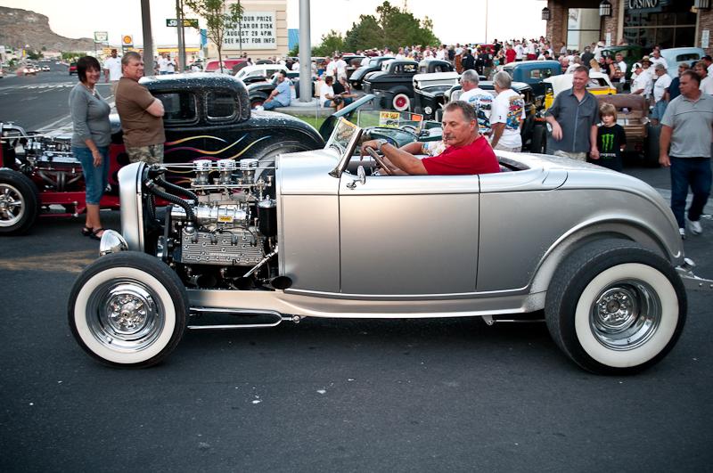 Bonneville Speed Week 2010, Deuce Roadster, Nugget Cruise In