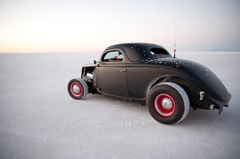 Speed Week 2010, fenderless coupe, Bonneville Salt Flats