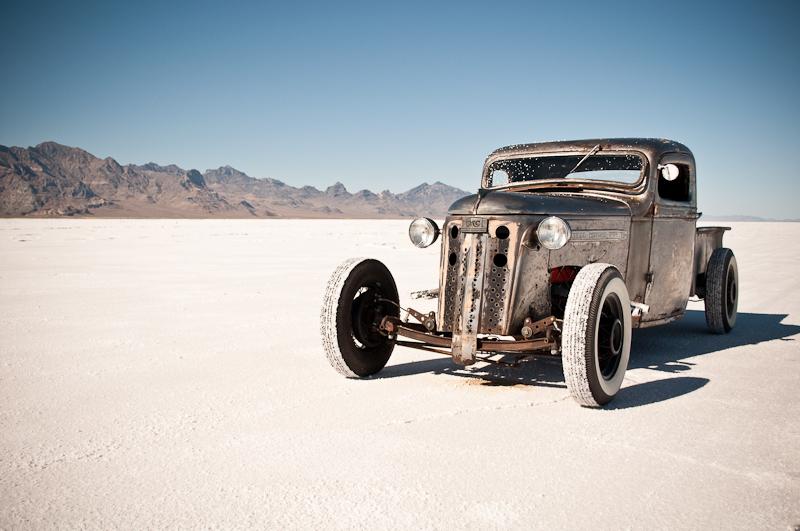 Speed Week 2010, 1938 GMC, rat rod pickup, Bonneville Salt Flats
