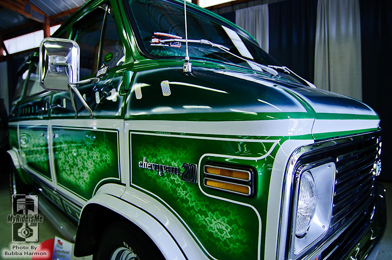 1974 Chevy Van, custom van, lace paint