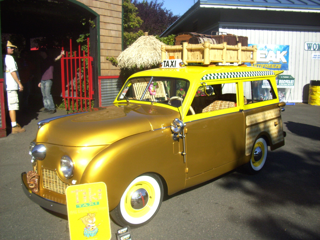 1947,crosley,station wagon,tiki theme car,custom,Goodguys,Puyallup,taxi