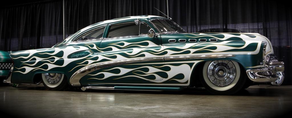 Custom Car Show, 1950 Buick Gangrene, 2010 Motorama, custom car pic