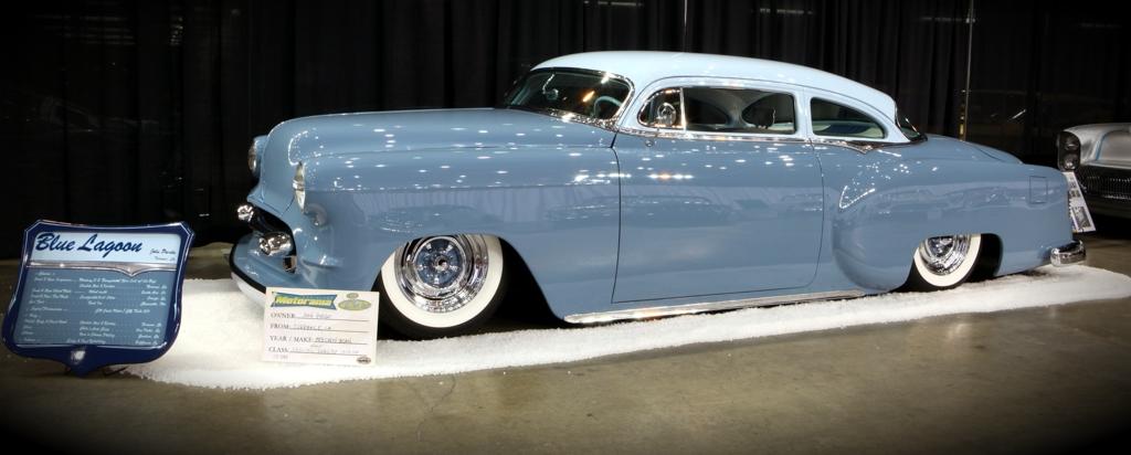 Long Beach Motorama, 1953 Chevy Blue Lagoon, 2010 Motorama, custom car pic