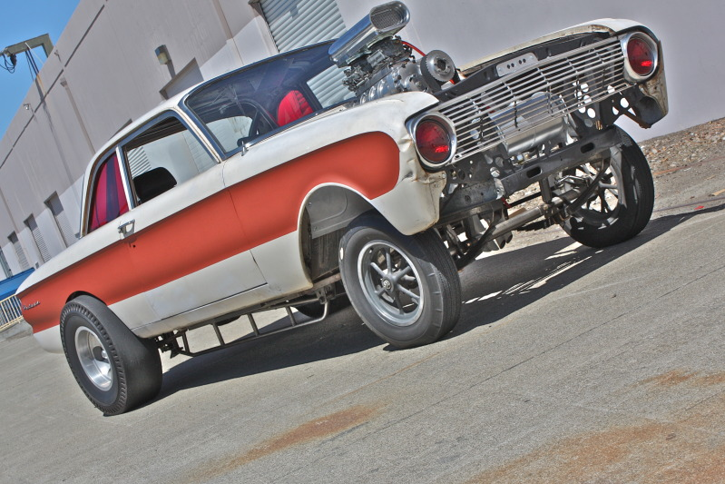 Ford falcon, straight axle Gasser, 401 Nailhead