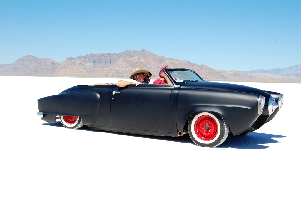 1950 Studebaker Coupe Convertible, Salt Flats