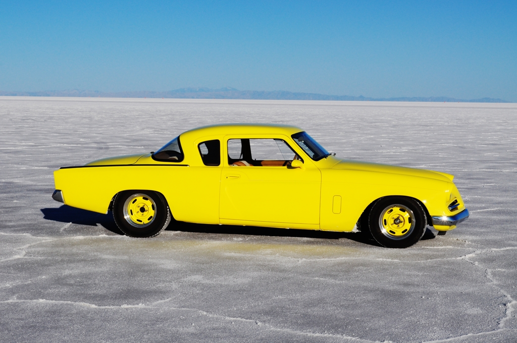 1953 Studebaker Coupe on Salt Flats, bonneville, speed week