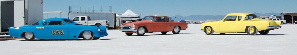 Salt Flat Studebaker Coupes, multiple=