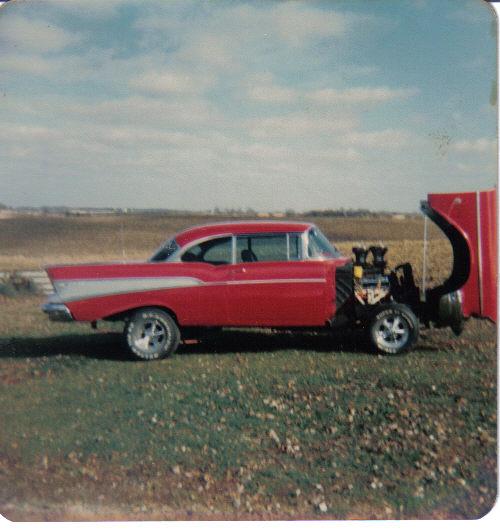 1957 chevy,street machine,hot rod,tilt front,retro,cragars