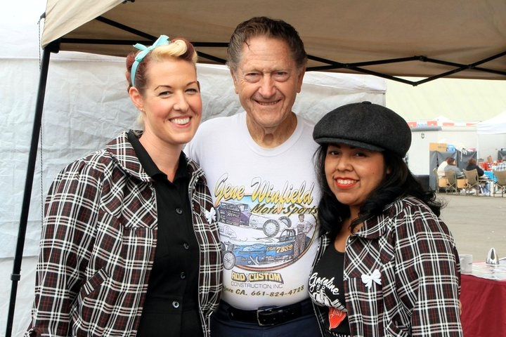 gene winfield, car show, rockabilly girls