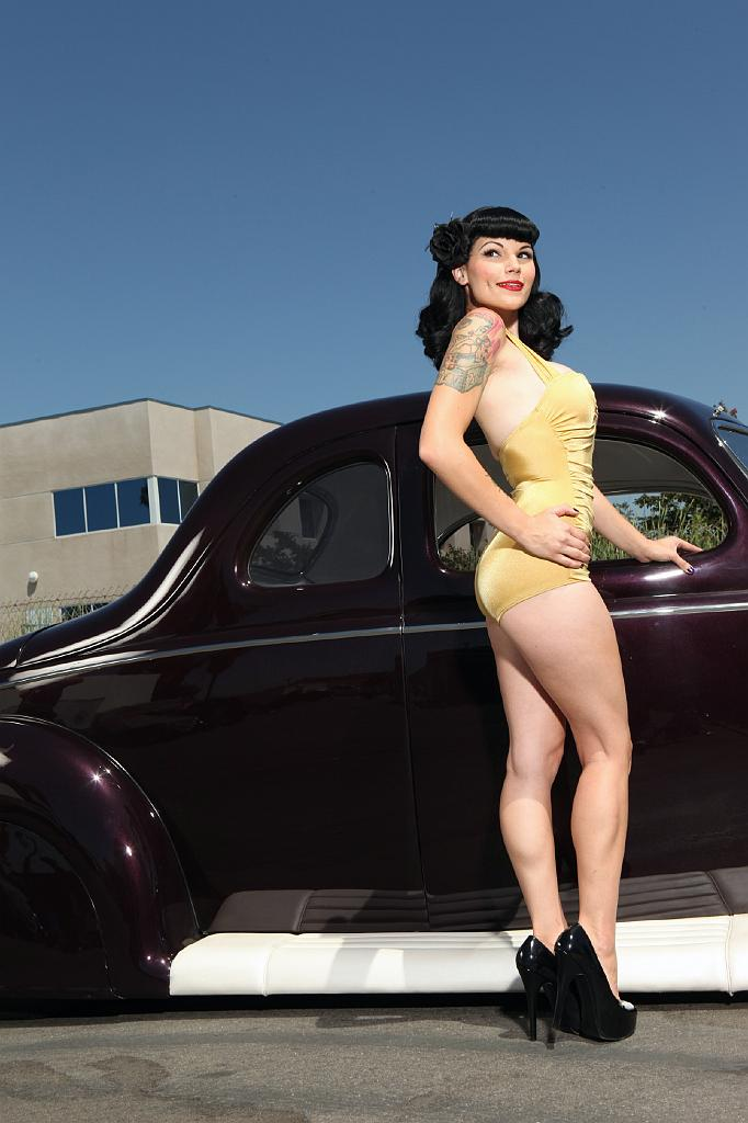 pin-up girls, Custom cars, Hot Rods, Swimsuit