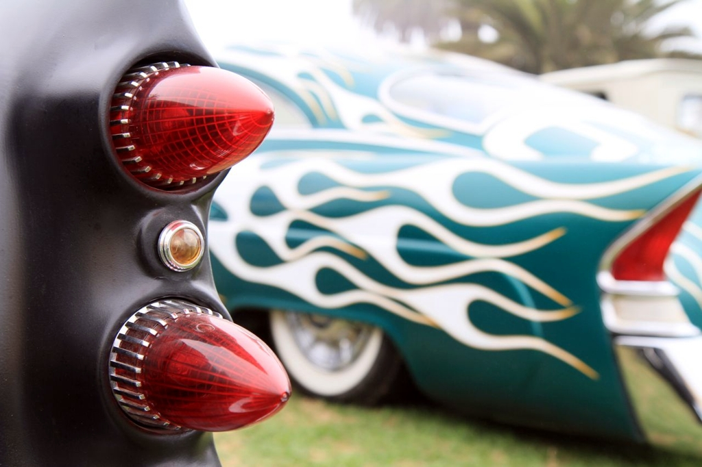 tailights, custom lowrider, pointy tail lights, car show