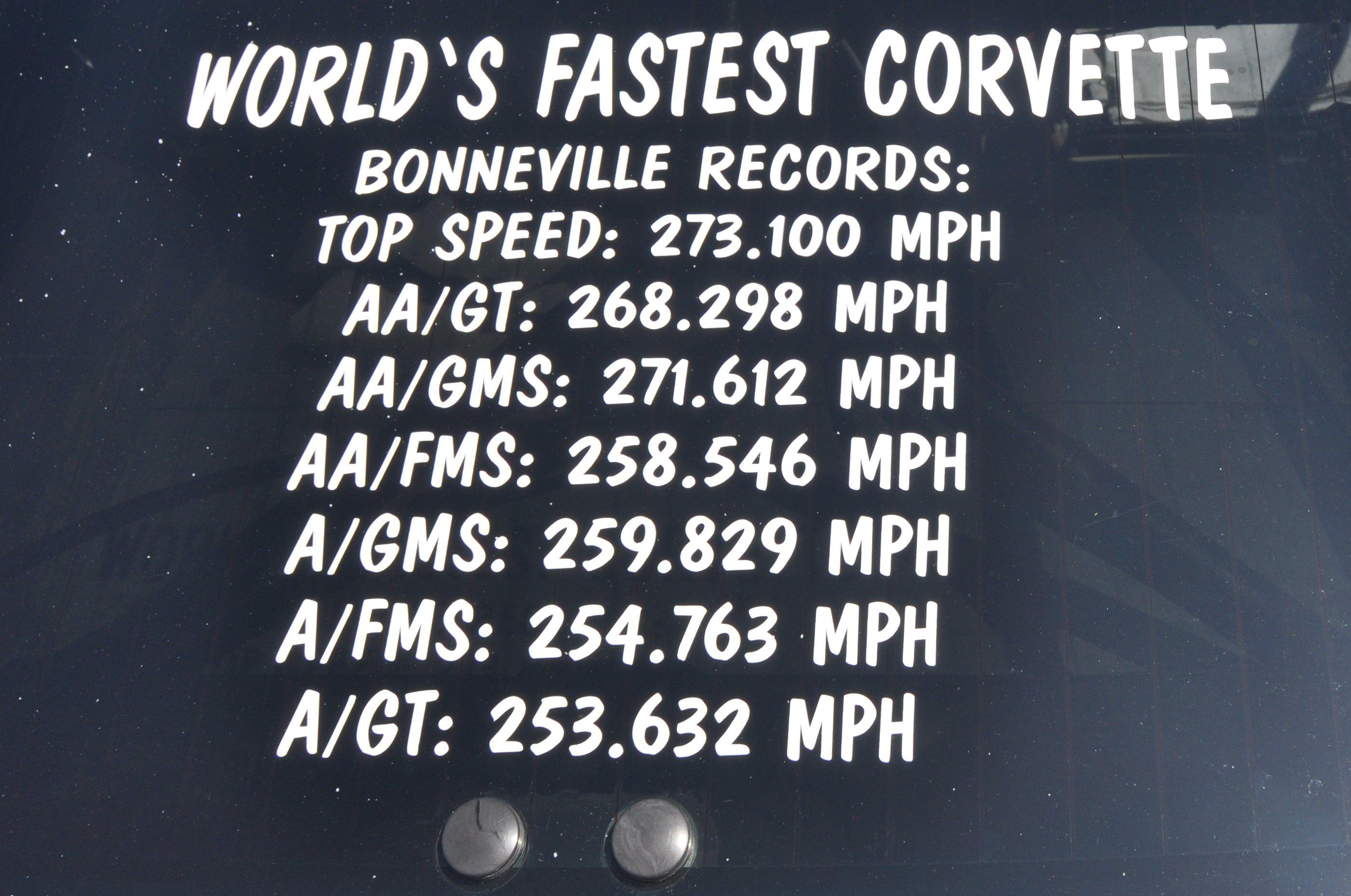 Fastest Corvette,Bonneville, salt flats, records