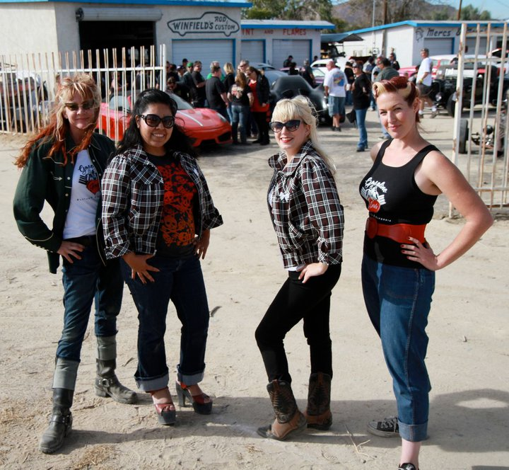 Gasoline Girls, Winfields Custom Car Gathering, girl car club
