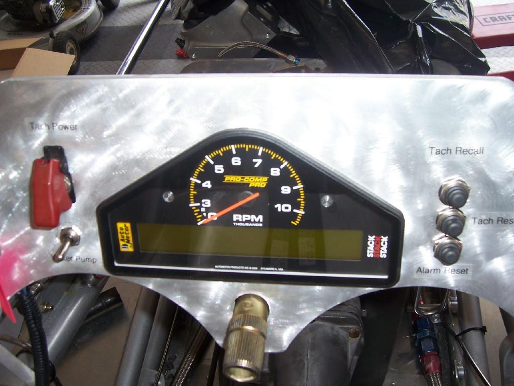 race car data acquisition, Volk Bros, 1929 Bonneville Roadster, LCD Display