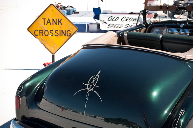 Speed Week 2010, pinstriped, custom convertible,Old Crow Speed Shop