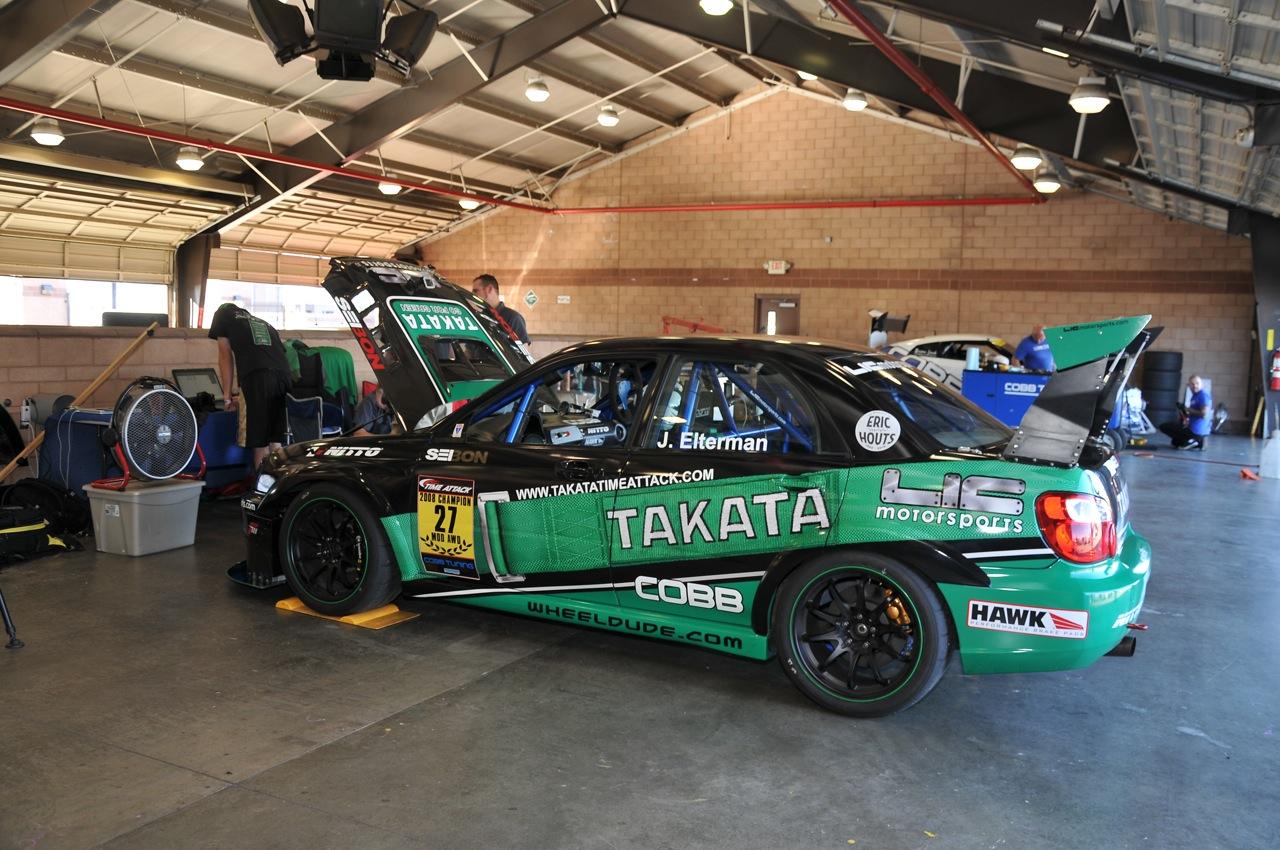 2010 Redline Time Attack, Takata, Subaru STI, pit