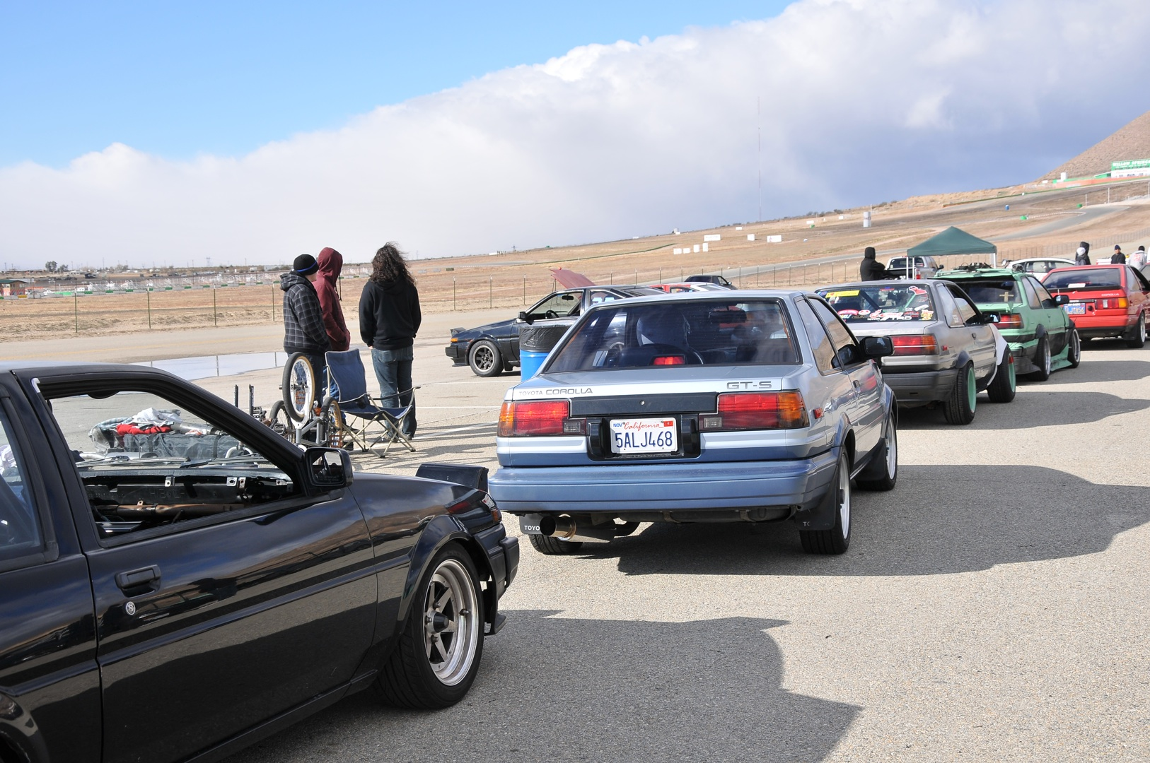 AE86, rear coupe, grid, willowsprings