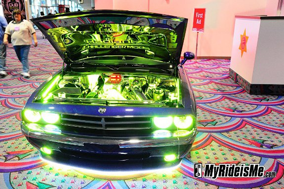 car LED lights,fail, custom dodge Challenger,SEMA 2010, car show car, car,led lights for cars