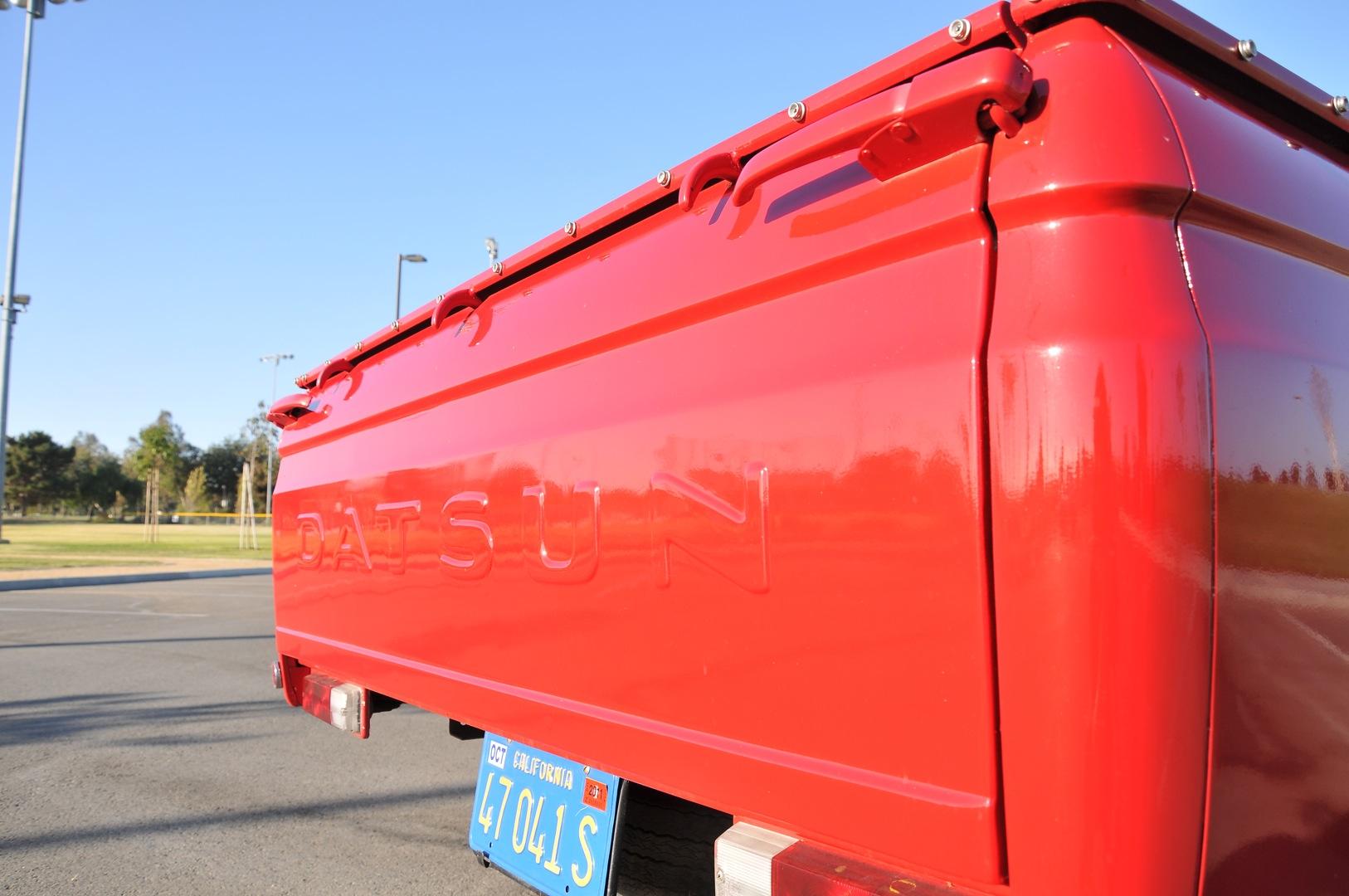 1969 Datsun 521 truck, rear liftgate, Datsun bed hooks