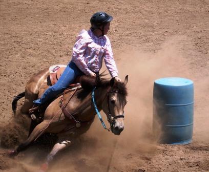 Gymkhana, Horse Racing, barrel, turns