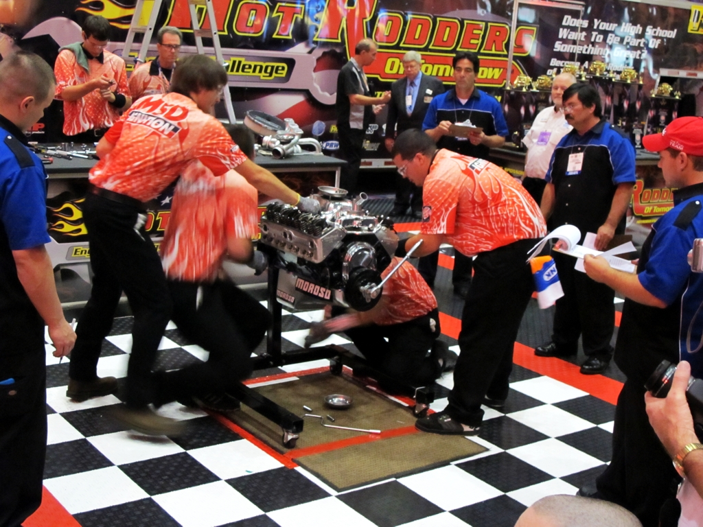 SEMA 2010, SEMA car show, sema show pictures, hot rodders of tomorrow, sema scholarship