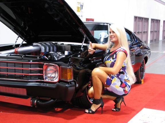 SEMA 2010, Custom black Chevelle, SEMA Car Show las vegas