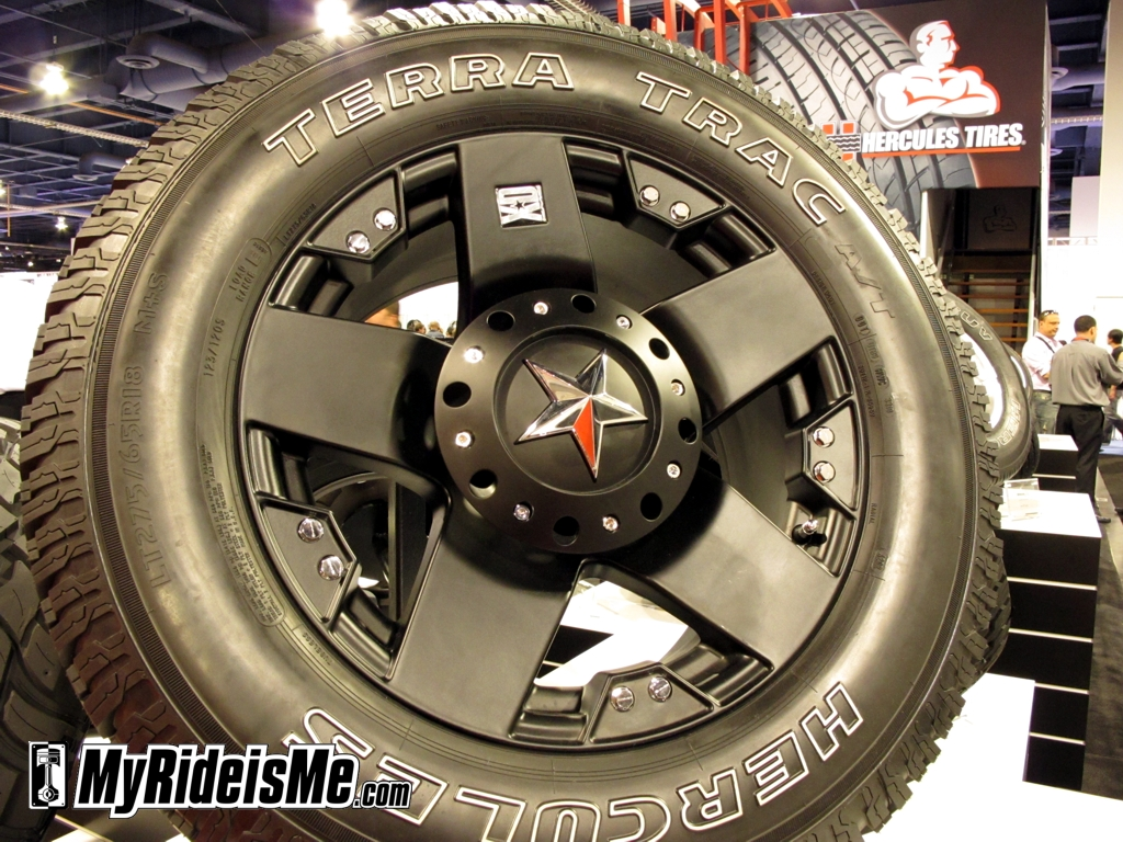 ugly wheels, ugly rims, car rims, SEMA Show 2010, product display